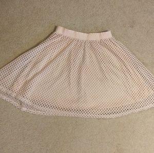 Metro Wear crochet lattice fit flare skirt sz PM